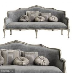 Grey Furniture, Recycled Furniture, Home Decor Furniture, Furniture Design, Hooker Furniture, Lounge Sofa, Sofa Set, French Sofa, Luxury Dining Room