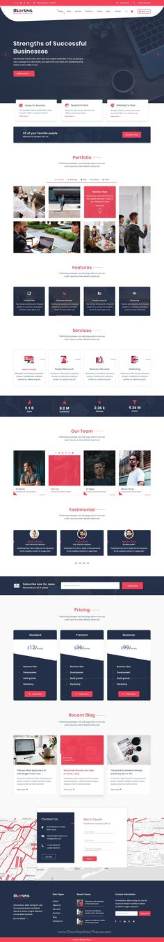StartKit is clean and modern design multipurpose #PSD template for creative #agency website with 13 layered PSD pages to live preview & download click on Visit