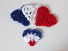 """Crochet is the Way: Hearts for Paris - A #freecrochetpattern and #tutorial. Please follow the link and give the tutorial a """"like"""" on Guidecentral. My earnings for the guide will be donated to the French Red Cross, and each like helps me #donate a little more!"""
