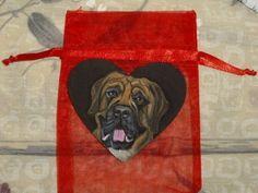 Mastiff Dog Painted Pin Brooch by daniellesoriginals on Etsy