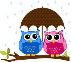 Corujas - Minus сова цветы окрытка лето зонт дерево