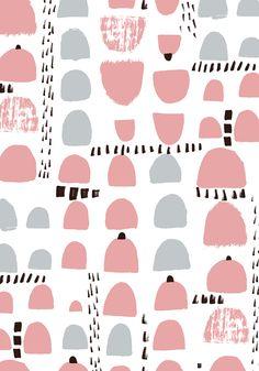 pattern by Minakani #minakani #huts #pattern