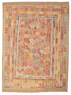 Kelim Afghan Old style matta 252x343