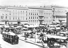 Marktstände zwischen Französischer Straße und Charlottenstraße, um 1890;  Quelle: Landesarchiv Berlin, F Rep. 290, Nr. 23254