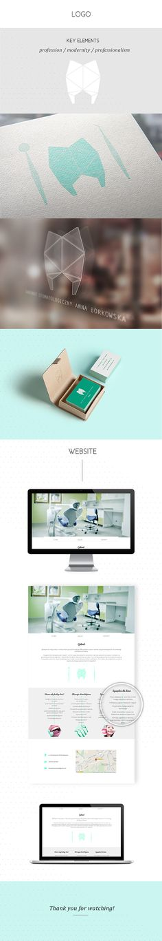 Dentist - Identity & Website Design on Behance