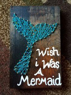 Mermaid Tail String Art by HandiDaniStringArt on Etsy