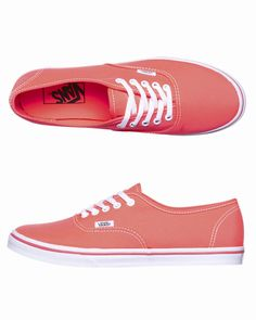 Vans Sneakers - http://www.surfstitch.com/eu/en/product/vans-authentic-lo-pro-shoes-neon-coral-VQES7N1 #neon #coral #trend #womens #vans #shoes