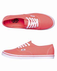 Vans Sneakers - http://www.surfstitch.com/eu/en/product/vans-authentic-lo-pro-shoes-neon-coral-VQES7N1 #neon #coral #trend #womens #vans #shoes