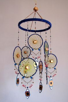 Dream Catcher and Third Eye Mobile by TheSleepySilkworm on Etsy, $175.00