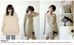 Urban Renewal - cute picture tutorial on transforming large tshrits into other cute things to wear