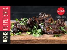 Bbq ribs by Greek chef Akis Petretzikis. Make the most amazing ribs with this unique bbq sauce recipe that is made with honey, coca cola and sesame seeds! Rib Recipes, Greek Recipes, Sauce Recipes, Confectionery Recipe, Beef Ribs, Food Videos, Cooking Tips, Side Dishes, Bbq
