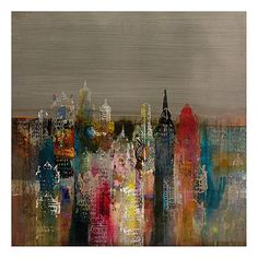 Penthouse View Wall Decor John Douglas, City Painting, Oil Painting Abstract, Watercolor Art, Oil Paintings, Abstract Art, Home Decor Wall Art, Home Art, Wall Art Prints