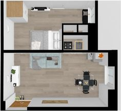 This is a furnishing plan for a two room apartments situated in Rome. It was so much fun planning this! Small Apartments, Decorative Objects, Furniture Plans, Rome, Floor Plans, How To Plan, Interior Design, Fun, Nest Design