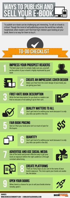 An excellent checklist for Self Publishing.   Ways to Publish and Sell your E-book | BookWhirl.com Blog