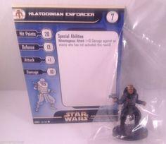 12X Star Wars Clone Strike 54/60 Klatooinian Enforcer (C) Miniatures