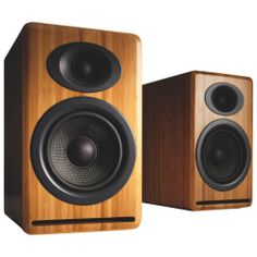 Audioengine Book Shelf Speakers (P4N) - Bamboo - 2 Speakers                         - Web Only