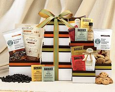 Starbucks and Tazo Tower Gift Basket « Holiday Adds Coffee Gift Baskets, Wine Country Gift Baskets, Holiday Gift Baskets, Tazo, Silent Auction, Creative Gifts, Coffee Drinks, Starbucks, Gift Ideas