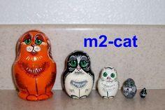 Cats Russian Nesting Doll 5 Pcs
