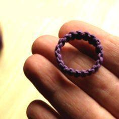 How to Make a Macrame Hemp Ring ♥