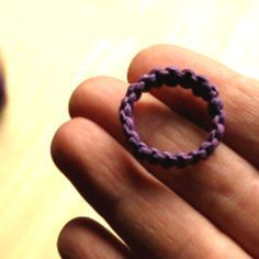 How to Make a Macrame Hemp Ring   ♥