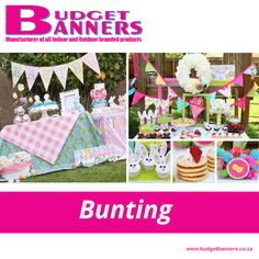 Bunting flags are not just for advertising your company; they can make even the simplest of parties look magical. At Budget Banners, we can print any design you want on these versatile little flags. Just string them up and be amazed.