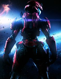 A female SPARTAN soldier standing on an orbital platform surveying the planet as a defense and port for UNSC frigates. A Beautiful View (Enhanced Version) Halo Spartan Armor, Halo Armor, Cyberpunk Girl, Cyberpunk Character, Character Art, Character Design, Halo Game, Halo 5, Halo Master Chief