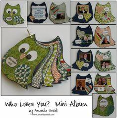 Amanda Sevall Designs: Scrapbook Mini Albums