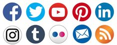 Simple Round Social Media Icons - the basic icon set - Socialmediaicons Most Popular Social Media, Social Media Icons, Icon Set, Pdf, Simple, Icons