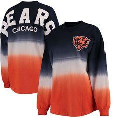 e2b8fd1cd Women s NFL Pro Line by Fanatics Branded Navy Orange Chicago Bears Spirit  Jersey Long Sleeve T-Shirt