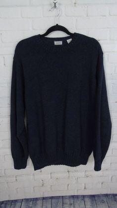 f59ac6af942fb Men s Izod Brand Navy Blue Long Sleeve Crewneck Sweater Size X-Large  Pre-Owned