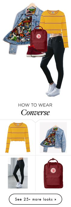 """""""Untitled #356"""" by singingloud on Polyvore featuring Runwaydreamz, Bullhead Denim Co., Topshop Unique, Fjällräven and Converse"""