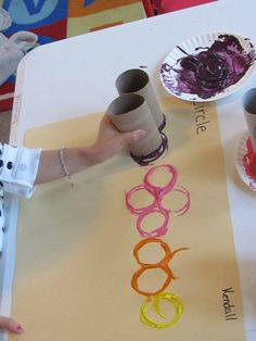 Painting with paper tubes