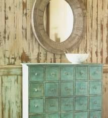 White-wash wall with old wood from Margie's....use washed bright colors throughout rest of room