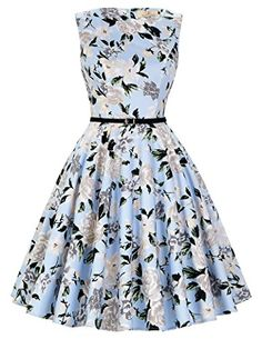 damen rockabilly kleid vintage ballkleider knielang hepburn stil geburtstag  kleid Größe M CL6086-41 Vintage a6ec4e0837