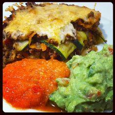 Mexicansk LCHF-lasagne med hjemmelavet grov guacamole og salsa #LCHF