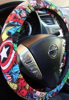 Handmade Steering Wheel Cover marvel comics the avengers hulk captain america