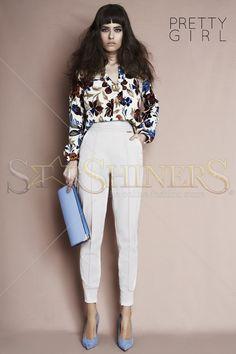 PrettyGirl Cosy Look Cream Trousers