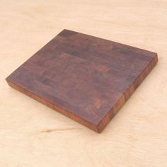 Handmade end grain mesquite wood cutting board. I have one of these; it's beautiful and a dream to use.