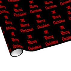Red and Black Christmas Wrapping Paper