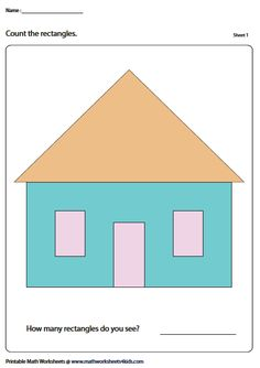 Identify the rectangles from the picture Introduction To Geometry, Geometry Worksheets, Math Lessons, Fun Activities, Jr, Bar Chart, Drawing, Learning, Studying