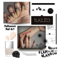 """Halloween nail art 💅🏼"" by anduu19 on Polyvore featuring beauty, Edie Parker and Kester Black"
