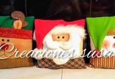 DIY Cojines navideños con moldes Grinch, Lily, Teddy Bear, Christmas Ornaments, Toys, Holiday Decor, Fun, Handmade, Animals