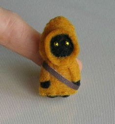 Jawa felt plush Star Wars miniature by wishwithme on Etsy, $18.00