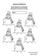 aktivita 00474 2 zima snehuliak gombiky Peanuts Comics