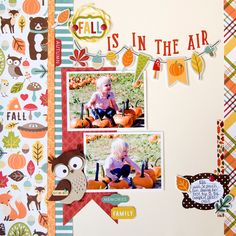 """Fall is in the Air"" layout by Tegan Skwiat for #EchoParkPaper"