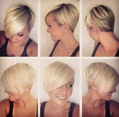 Do you have blond hair color and looking for a new pixie hairstyle? We're here to help you, here are Blonde Pixie Cuts for blond beauties may get inspire! Chic Short Hair, Cute Hairstyles For Short Hair, Short Hair Cuts For Women, Pixie Hairstyles, Pretty Hairstyles, Short Hair Styles, Short Blonde, Short Haircuts, Pixie Styles