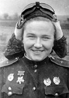 "Nadezhda Popova - World War II Soviet pilot. A highly-decorated officer, she was a prominent member of the Soviet's 588th Night Bomber Women Regiment known as the ""Night Witches""."