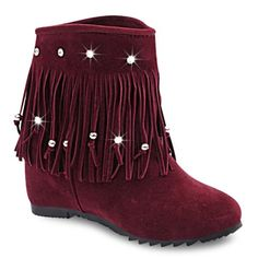 GET $50 NOW | Join RoseGal: Get YOUR $50 NOW!http://www.rosegal.com/boots/rhinestones-fringe-increased-internal-short-885480.html?seid=2275071rg885480