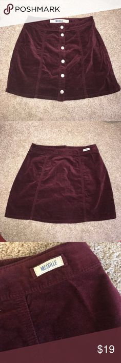 Brandy Melville Maroon Skirt ✨ Great Condition ✨ Super cute and trendy Brandy Melville skirt that can be worn any season! Let me know if you have questions 💖 Brandy Melville Skirts