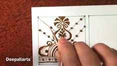 Hello friends In This Tutorial 26 learn filler elements for intricate mehndi design Henna Tutorial, Mehndi Designs For Hands, Dots, Make It Yourself, Youtube, Flowers, Pattern, Florals, Hand Mehndi Design